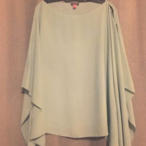 Vince Camuto Semi Sheer Light Green Poncho Top
